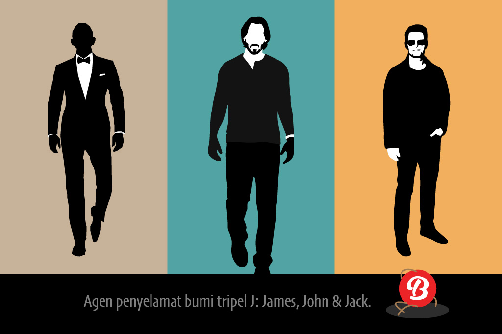 Karakter James Bond, John Wick dan Jack Reacher